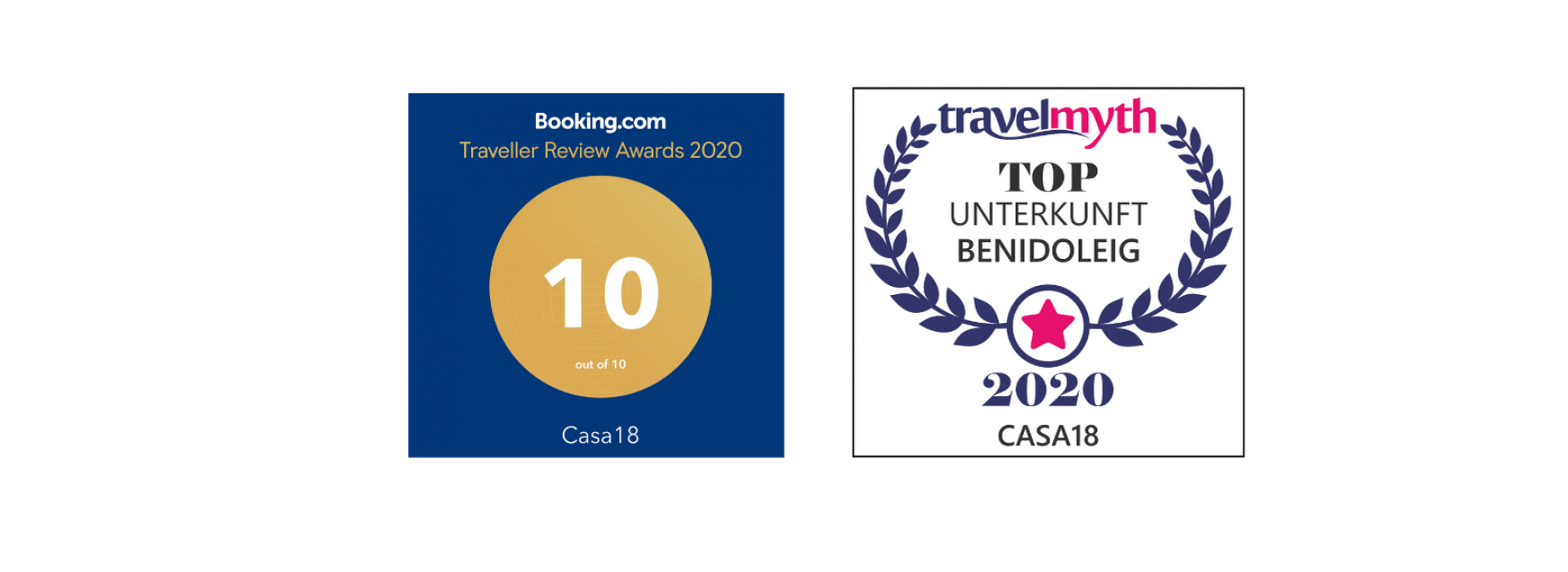 Traveller Review Award 2020 von booking.com